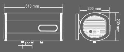 binh nong lanh picenza n20ed kt Bình nóng lạnh Picenza N20ED Titanium (Bình ngang Chống giật)