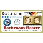 Đèn sưởi phòng tắm Kottmann 2 bóng (màu vàng,màu bạc)