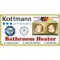 Đèn sưởi phòng tắm Kottmann 2 bóng (màu trắng bạc)