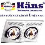 Đèn sưởi nhà tắm Hans 2 bóng